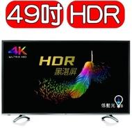 BenQ 49型 4K HDR 護眼 液晶 電視 顯示器 49mr700
