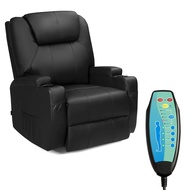 Tangkula Electric Massage Recliner Chair, 360 Degree Swivel Heated Chair, Rocking Massage Chair, Adjustable Accent Armchair, Modern Vibrating Sofa, Padded Cushion, Home Theater Seating,Leisure Lounge