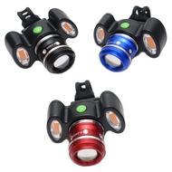 車前燈+可變焦 USB充電腳踏車頭燈 自行車燈 警示燈T6Q5L2【小飛象】