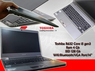 Laptop Toshiba R632 Core i5 Dynabook - RAM 4GB - SSD 128GB SUPER SLIM