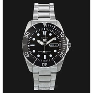 Seiko 5 Sports SNZF17K1 Sea Urchin Automatic 23J Black Dial 100M Stainless Steel