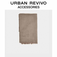 Urban Revivo2020 Autumn Women Accessories Color Tassel Scarf