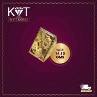KVT JEWELLERS 916 GOLD BOX RING ( KOI FISH PATTERN X ABACUS)