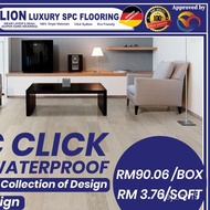 [Ready Stock] 4MM WATERPROOF SPC FLOORING WITH CLICK SYSTEM VINYL FLOORING 10KEPING 24SQFT YRlu