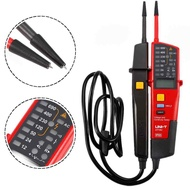 QUEO 1 Pcs UNI-T UT18C Auto Range Voltage Meter Continuity Tester LCD Indication Date Hold RCD Test Battery Powered Detection