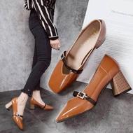 ❣❣ รองเท้าคัชชูผู้หญิงส้นเตี้ย รองเท้าส้นแบนหุ้มส้นสำหรับผู้หญิง  ❣❣