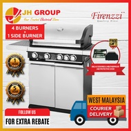 FIRENZZI 4 BURNERS +1SIDE BURNER OUTDOOR STAINLESS STEEL BBQ GRILL FBQ1548 BARBECUE GRILL BARBECUE SET BBQ MACHINE GAS STOVE GAS COOKER *FOC OUTDOOR BBQ ACCESSORIES & WEATHERPROOF & PROTECTIVE COVER FBQ-1548 (NON-KL / WEST M'SIA)