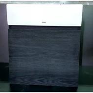 【台製】TOTO浴櫃 L710CGUR 方盆 專用浴櫃 (左開門/右開門/無把手/台灣製造/碳黑胡桃木色/貼皮/710)