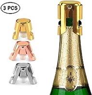Champagne Bottle Stopper Set Stainless Steel with Longer Sealing Plug Reusable Bottle Sealer Wine Saver