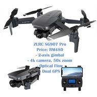 ✨Local Seller✨ZLRC SG907 Pro Dual GPS FPV Optical Flow Drone Quadcopter siap 4K camera 50x zoom dengan harga mampu milik