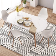Dining table, home dining table, marble rectangular dining table