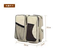 เปลเด็กทารกแรกเกิดแบบพกพา,กระเป๋าผ้านอนสำหรับเดินทางเตียงเด็กอ่อน กระเป๋าสำหรับเด็กอ่อนพับได้แบบพกพา,กระเป๋าคุณแม่สีเทาสีกาแฟ
