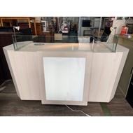 吉田二手傢俱❤現代簡約 櫃台 收銀台 收銀櫃檯 接待台 吧台 前台 收納 置物