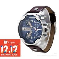 Diesel Luxury Men's Leather Strap Watch DZ7314