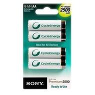 索尼 SONY NH-AA-B4GN 3號 AA 2500mAh 低自放充電電池 1.2V 四顆裝