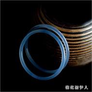 藍玉髓手鐲手環 冰種玉鐲子少女款秀氣 細條手鐲禮物 QX8154 【棉花糖伊人】