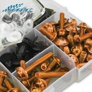 For YAMAHA NVX155 YZF R1 R3 R6 R15 R25 MT07 MT09 TMAX 530 XMAX 300 Motorcycle Universal Accessories Fairing Bolts Screws Kit