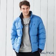 【NAUTICA】雙面穿立領羽絨外套(藍色)