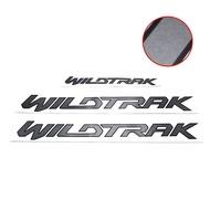 ชุดสติ๊กเกอร์ WILDTRAK 3 ชิ้น ฟอร์ด แรนเจอร์ สีเทาเข้ม สำหรับ Ford Ranger ปี 2015-2020