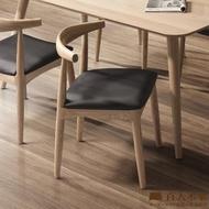 【直人木業】日式全實木牛角椅--高級山毛櫸實木