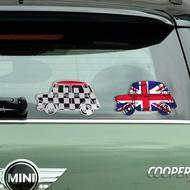 新款MINI老爺車貼紙個性米字旗風格反光cooper車身裝飾貼紙尾箱貼