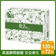 優活抽取式衛生紙120抽x72包/箱(T1C2L-A2)