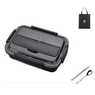 【PUSH!】餐具用品304不鏽鋼分格保溫餐盒學生便當(E138配提袋)