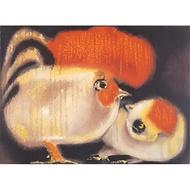 【劉其偉藝術典藏】親筆簽名限量發行石版畫(生肖系列--雞)