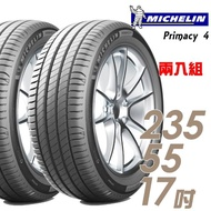 【Michelin 米其林】PRIMACY 4 高性能輪胎_送專業安裝 兩入組_235/55/17(PRI4)