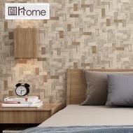 53cm * 10m wallpaper kertas dinding Non-self-adhesive Hiasan dinding Cina klasik anyaman buluh rotan tikar buluh gaya Cina hotel B & B restoran kedai teh latar belakang projek kertas dinding