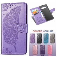 For Samsung Galaxy S10 Lite S8 S9 Plus S7 Edge Butterfly Wal