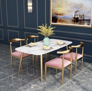 Nordic marble table rectangular dining table dining table dining table chair combination modern simp