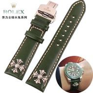鱷魚紋真皮錶帶代用勞力士綠水鬼米伽ROLEX迪通拿漢密爾頓錶帶20