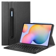 เคสคีย์บอร์ด Fintie สำหรับ Samsung Galaxy Tab S6 Lite 10.4 '' 2020 รุ่น SM-P610 (Wi-Fi) SM-P615 (LTE) ฝาปิดแบบบางพร้อมที่ใส่ปากกา Secure S แป้นพิมพ์บลูทู ธ ไร้สายที่ถอดออกได้, สีดำ