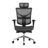 台中 好市多 24H即時送  Ergoking 全功能網布人體 工學椅 電腦椅 黑