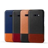 LG G8X ThinQ K51s K61 V60 ThinQ Velvet 皮革保護殼皮革撞色背蓋拼皮手機殼保護套