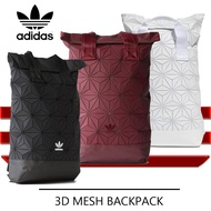* Ready Stock * Adidas 3D Mesh Roll Top Backpack /Issey Miyake Style Bag Fashion