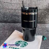 [รุ่นนี้หายากสุดๆ🔥] แก้ว Starbucks x Stanley Tumbler Black Stainless Quencher (20 Oz.)