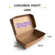 Kraft Brown lunchbox size L (50 pcs) - LARGE Paper Lunch Box