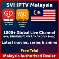 SVI Go Mo IPTV Malaysia Yearly Monthly Subscription TV Channels VOD  HAOHD MYIPTV4K JOYTV SYBERTV LONGTV