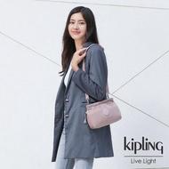 【KIPLING】溫柔沉穩粉平口收納小包-ALZINA