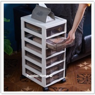 A4 Paper Storage Drawer Stationary Organizer Cabinet with Roller Wheels Movable