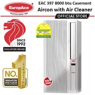 MADE IN TAIWAN* EuropAce Air Conditioner 8000BTU - EAC 397 4in 1 Casement Aircon