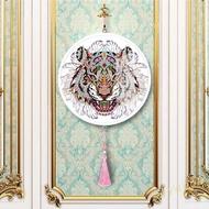 SG Tiger Mural Tassels DIY Diamond Painting Special Shape Drills Home Pendants