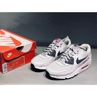 "正品 Nike Air Max 90 Essential ""黑灰粉""跑鞋"
