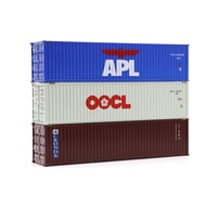 40ft HO train container truck shipping terminal scene container 1:87 scale train model accessories landscape