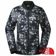 【美國 The North Face】女 ThermoBall暖魔球保暖外套『黑色/印花』NF0A35CR 鋪棉外套 防潑水 輕量旅行 登山 露營 戶外