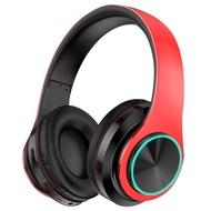 頭戴式耳機 藍芽耳機頭戴式無線耳麥電腦手機男女通用聽網課插卡游戲運動跑步音樂吃雞男女生正韓可愛華為小米蘋果全包耳【MJ2045】