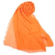 COACH 經典馬車LOGO披肩圍巾-橘色
