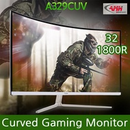 [AMH] Curved Gaming Monitor / A329CUV / Smooth high frame / Flicker free mode / 1800R CUV / 144Hz / Computer Monitor / monitor stand include / Hot Key